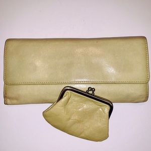 HOBO Green Leather Wallet And Coin Putse